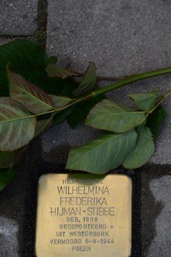 Stolpersteine voor Wilhelmina Frederika Hijman-Stibbe