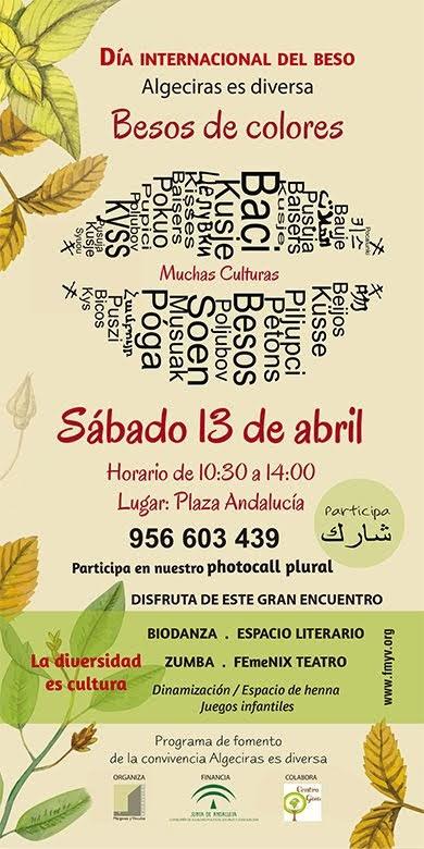Algeciras es diversa celebra el Día Internacional del Beso con actividades lúdicas y festivas, el sábado en la plaza Andalucía