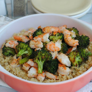 Blackened Broccoli and Shrimp.
