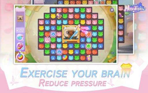 Meowtopia-Cat-themed decoration match 3 game screenshots 4
