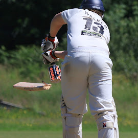 Bat breaks by John Davies - Sports & Fitness Cricket ( gloucestershire university, pontardawe cc, cricket, jd photography, swansea university, canon eos 7d mk2, university cricket )