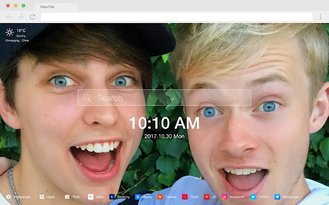 Colby Brock New Tab Page HD Red Man Theme