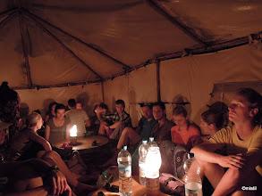 Photo: čekání na tajine v berberským stanu v poušti. Po cestě na vembloudech v písečný bouři...