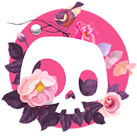 skull theme cute rose skull wallpaper