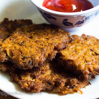 Filipino Tortang Sardinas (Canned Sardines Fritters).