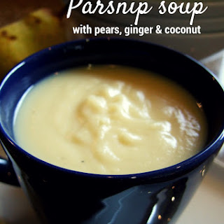 Parsnip Soup With Pears, Ginger And Coconut
