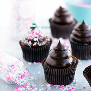 Dark & Dreamy Double Fudge Cupcakes