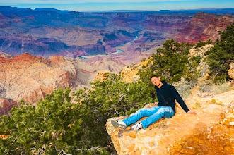 Photo: Daniele at Desert View, South Rim of Grand Canyon Nation Park, Arizona, USA