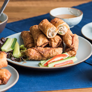 Kung Pao Egg Rolls.