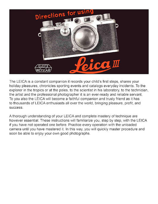 Leica III Instruction Manual Updated