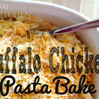 Buffalo Chicken Pasta Bake.