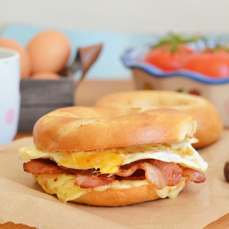 Bacon Egg and Cheese Breakfast Sandwich