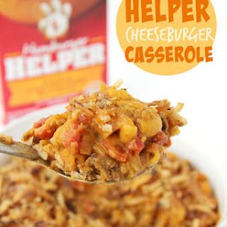 Hamburger Helper Cheeseburger Casserole.