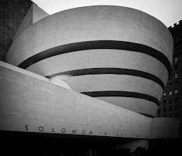 Photo: Here's another shot of the Guggenheim that I took a couple of years ago. The basic look of the shot was created using Silver Efex Pro2. I was trying to come up with something which minized the people waiting in line at the bottom of the shot. I also wanted to extract more of the texture of the building which is more visible in person than what shows up in a picture.