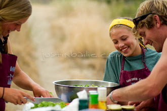 Photo: River guides cooking while Rafting Hell's Canyon of the Snake River, ID / OR. Hell's Canyon is the deepest canyon in North America.