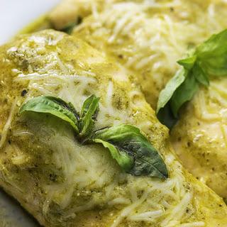 4 Ingredient Slow Cooker Pesto Ranch Chicken.