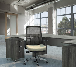 Photo: GS33F2SVRELT shown with Medina Desking Gray Steel