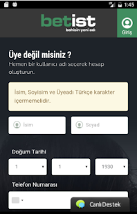 Betist Android Uygulaması- screenshot thumbnail