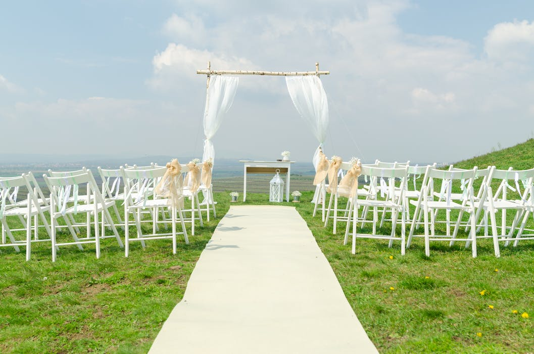 wedding venue by scenic overlook