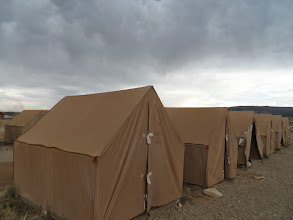Photo: Our tent row for the 1st night.