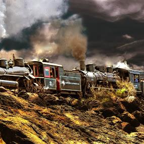 Double Header by Nickel Plate Photographics - Transportation Trains ( locomotive, steam train, railroad, train, transportation )