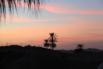 Photo: Sunset from our room in Matmatah