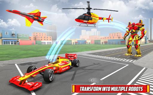Helicopter Robot Transform: Formula Car Robot Game filehippodl screenshot 1