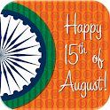 15 Aug- Independence greetings icon