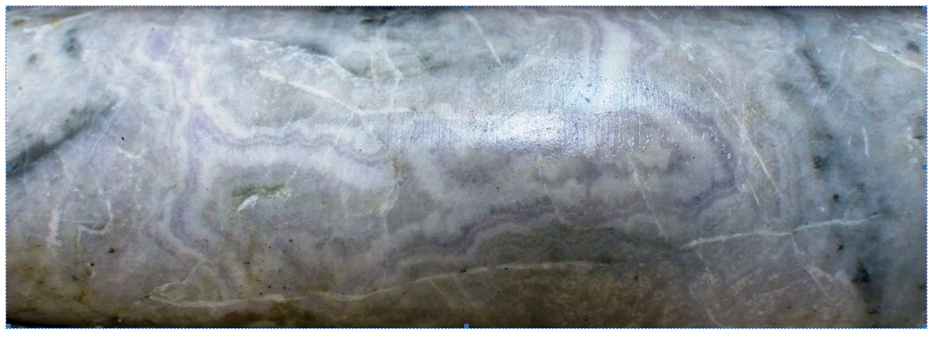 Колломорфно-полосчатая текстура руд