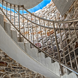 Going Up by Richard Michael Lingo - Buildings & Architecture Other Interior ( maine, staircase, building, architecture, tower )