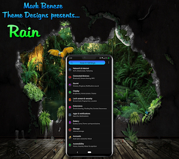Rain Theme for LG G8, V40, V50 UX8 Android 9 for PC-Windows 7,8,10 and Mac apk screenshot 2
