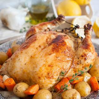 Oven-Roasted Garlic Buttermilk Chicken.
