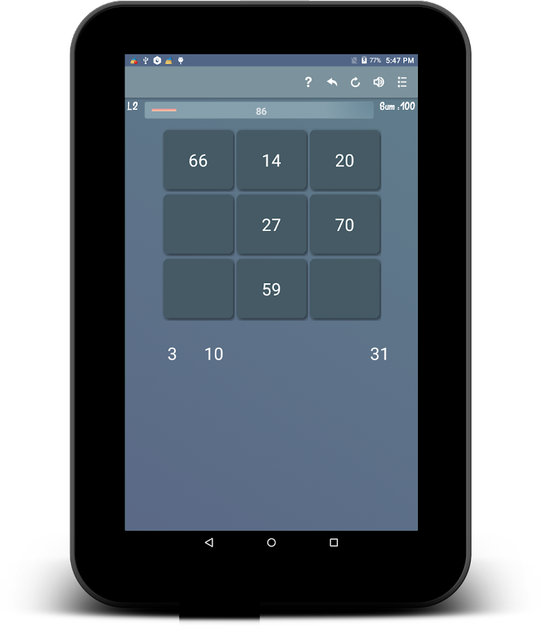 Hundred - A number game- screenshot