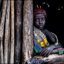 Girl Hamar by Damjan Voglar - People Portraits of Women ( travel photography, africa, tribe, portrait, travel, girl )