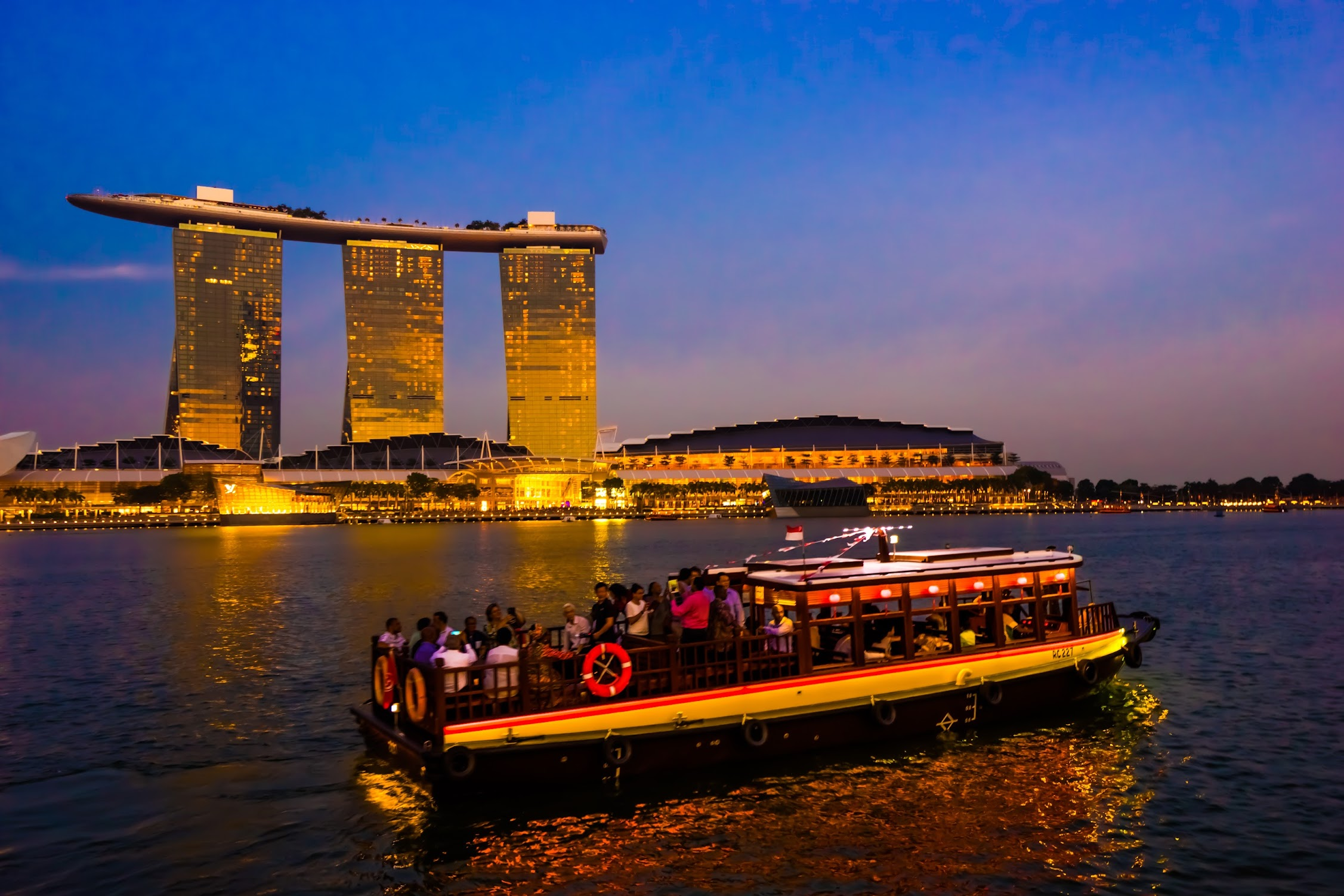 Singapore Marina Bay Sands sunset1