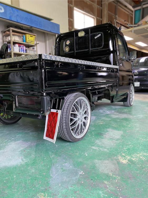 アクティトラック HA6の軽トラ野郎,はろーすぺしゃる,ラメフレーク塗装,泥除けに関するカスタム&メンテナンスの投稿画像2枚目