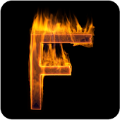 Fire Letter F Live Wallpaper