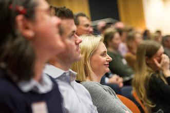 Photo: The audience enjoying a joke.