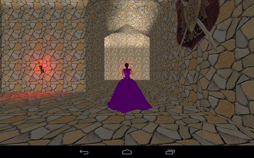Princess in maze of castle.