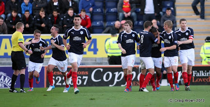 Photo: Falkirk v Dunfermline Athletic Irn Bru First Division The Falkirk Stadium 6 October 2012Falkirk players celebrate the opening goal(c) Craig Brown | StockPix.eu