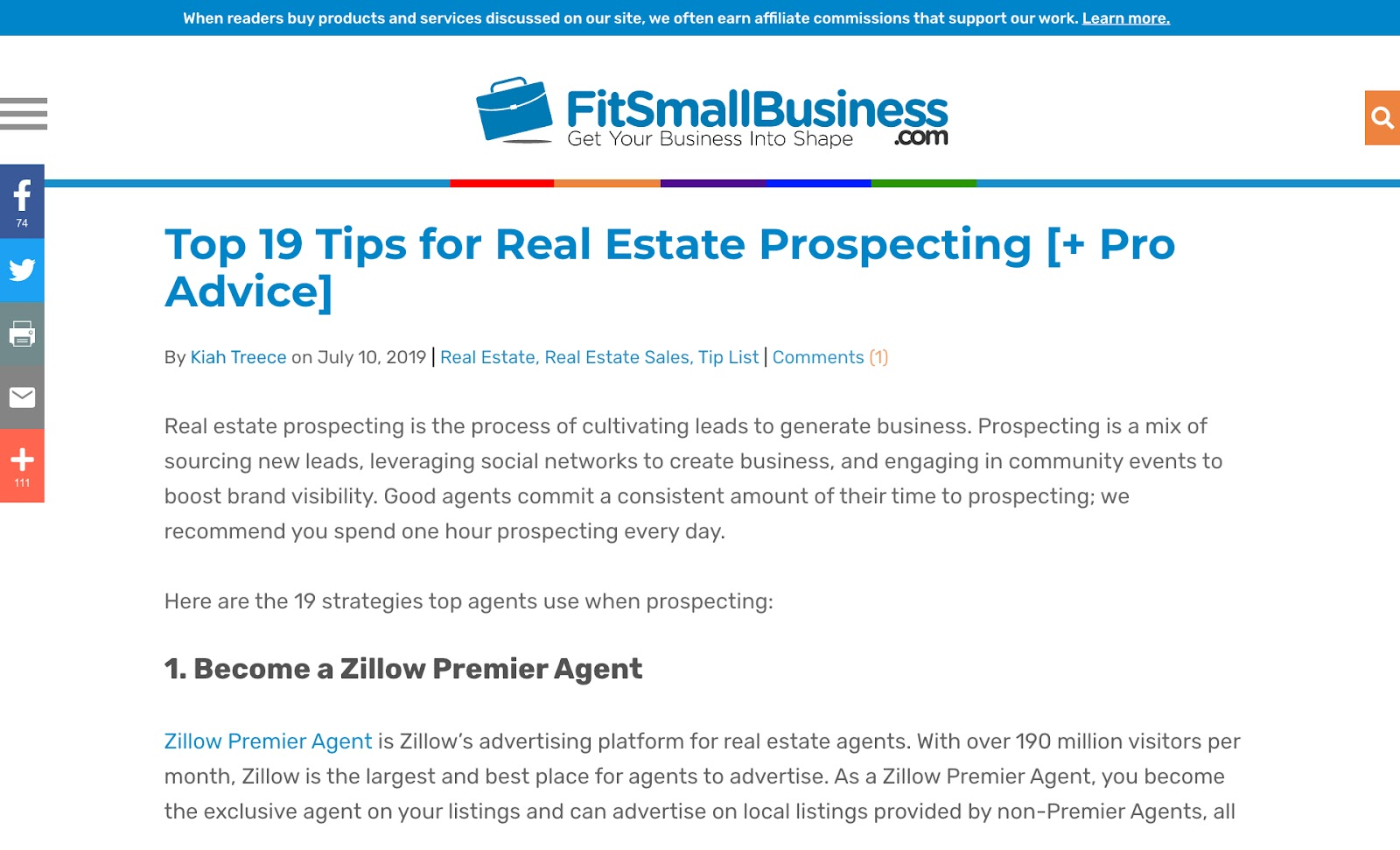 fit small business real estate article