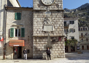 Photo: We arrived in Kotor, Montenegro, recently declared a UNESCO World Heritage site.  Montenegro has been independent of Bosnia for only 9 years.  This clock tower was built in 1602.