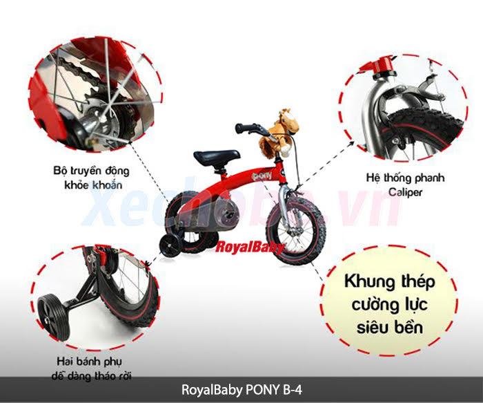 xe ponny cho bé Royalbaby b4