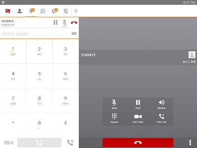 TDS managedIP Hosted Tablet UC screenshot 2