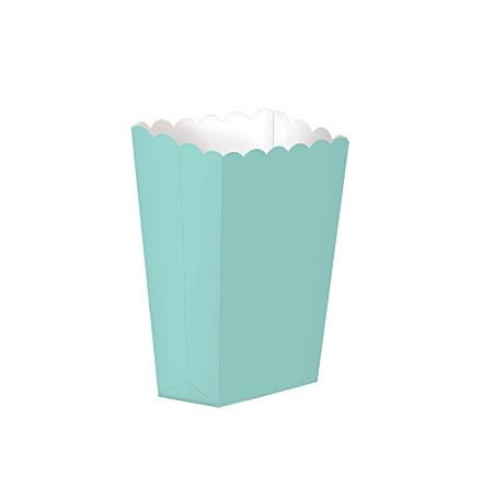 Popcornboxar - Ljus turkos