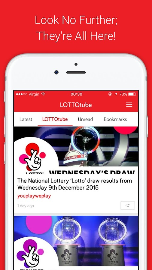 LOTTOtube- screenshot