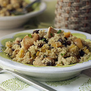 Chicken-Mint Couscous with Raisins and Apricots