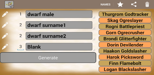 Generate Fantasy Names - Apps on Google Play