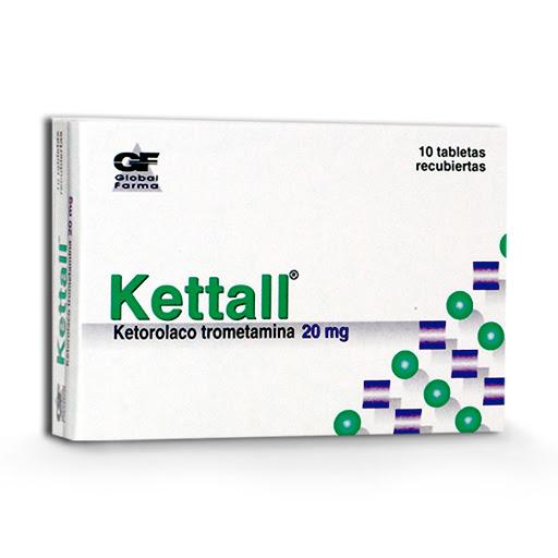Ketorolaco Kettall 20mg 10 Tabletas Global Farma