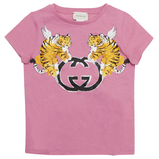 Thumbnail images of Gucci Tiger Logo T-shirt